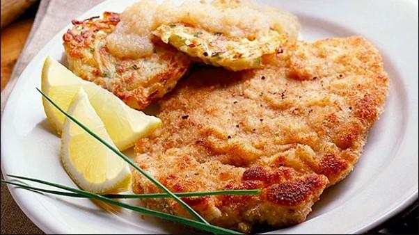 Escalopes de poulet croustillant