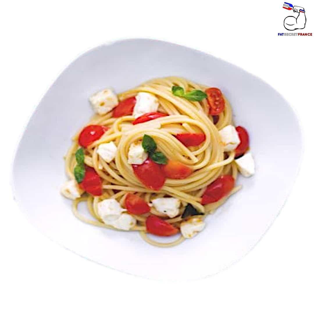 Spaghettis tomate-mozzarella