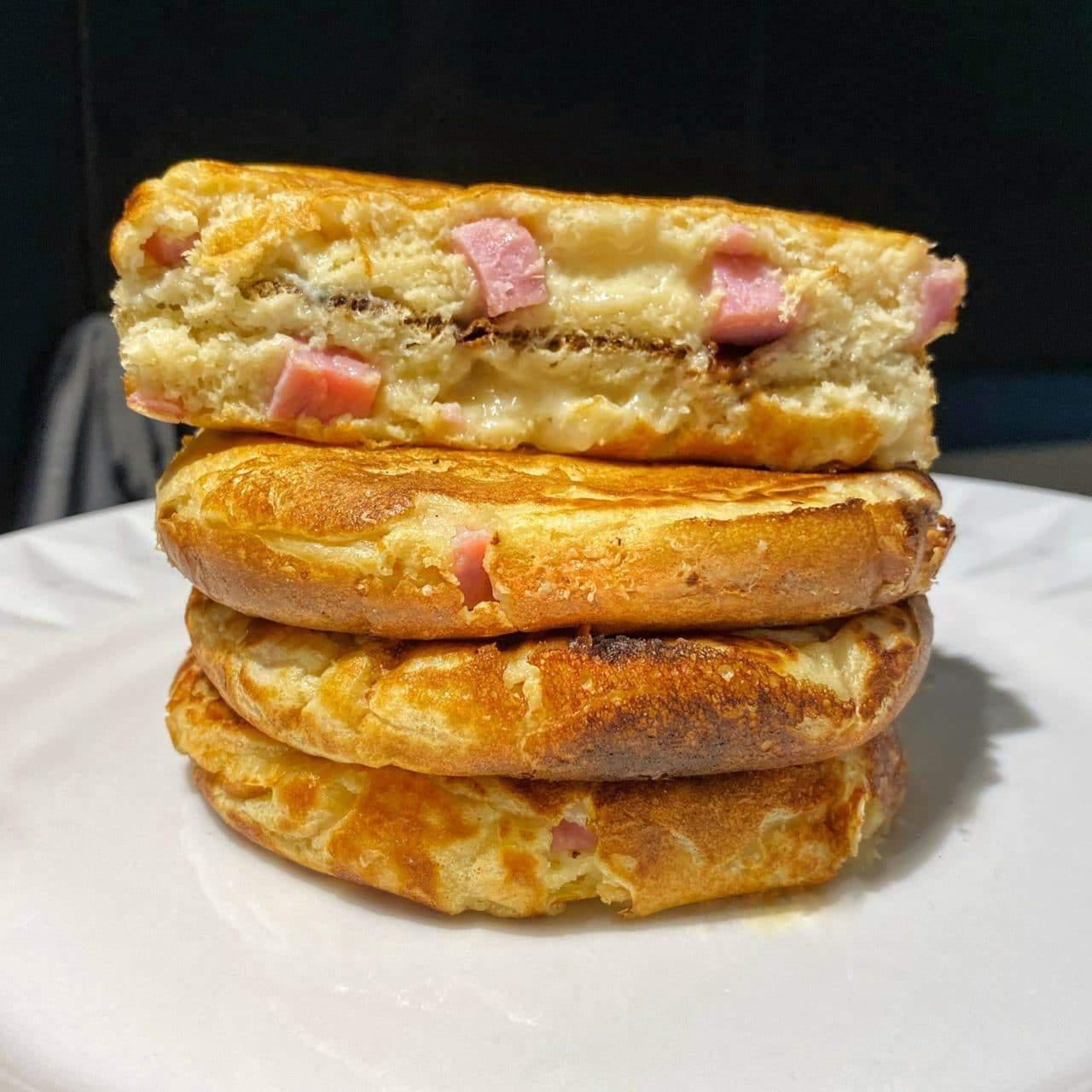 Pancake fourrés jambon/chèvre